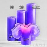 Lotuskerze lila 18cm