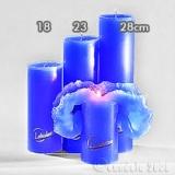 Lotuskerze blau 23cm