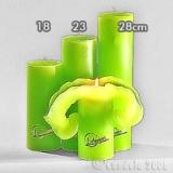 Lotuskerze gelbgrün 18cm