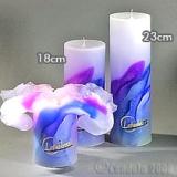 Lotuskerze ART blue passion 18cm