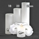 Lotuskerze weiß 18cm