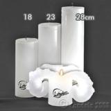 Lotuskerze weiß 23cm