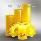 Lotuskerze gelb 23cm