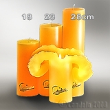 Lotuskerze goldgelb 18cm