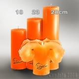 Lotuskerze orange 23cm