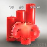 Lotuskerze rot 23cm