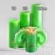 Lotuskerze grün 23cm
