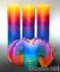 Lotuskerze Rainbow 28cm