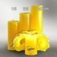 Lotuskerze gelb 28cm